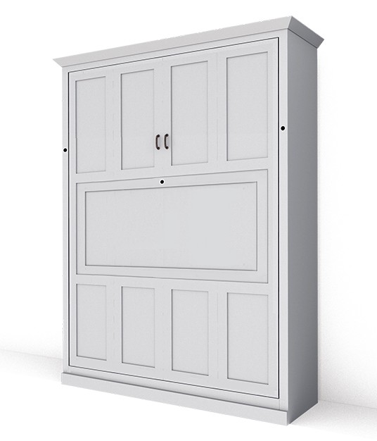 116M PM lg Available Soon!!! Customizable - Queen Mission Panel Murphy Bed with Dropdown Desk $4135.0