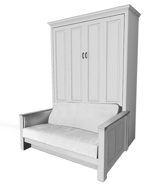 94T PM lg Available Soon!!! Customizable - Full Traditional Raised Panel Sofa Murphy Bed  - You pick the paint and fabric! $5738.0