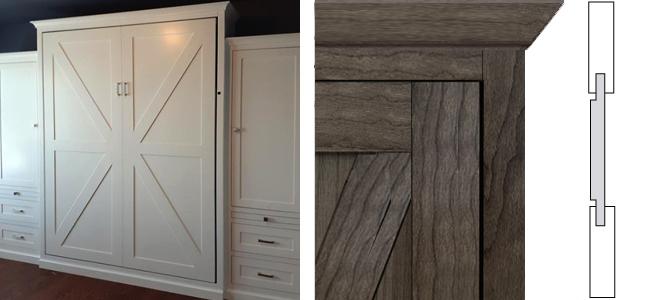 Barndoor Panel Style Composite 2 Barn Door Panel Style