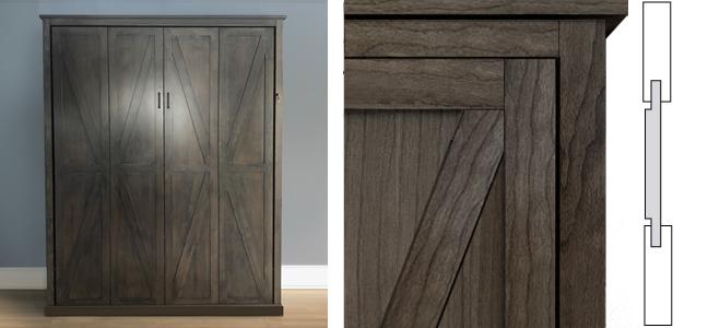 Barndoor Panel Style Composite  Barn Door Panel Style