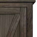 British Brace Panel Door Style Maple 1500 Barn Door Panel with Bookshelf Top