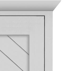 Chevron Panel Door Style Crown 270 white Vertical Chevron Panel - 1 color