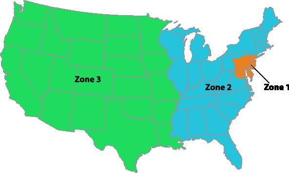 LancHand shipping map v2 Nationwide Shipping