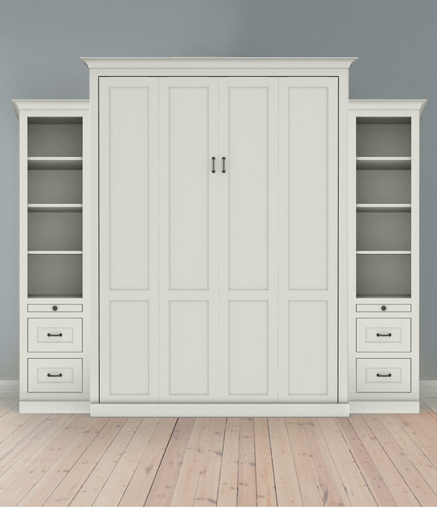 "MB104S 123S2 PM IS 626 Full Vertical Shaker Panel with 18"" Side Cabinets - Painted Maple 