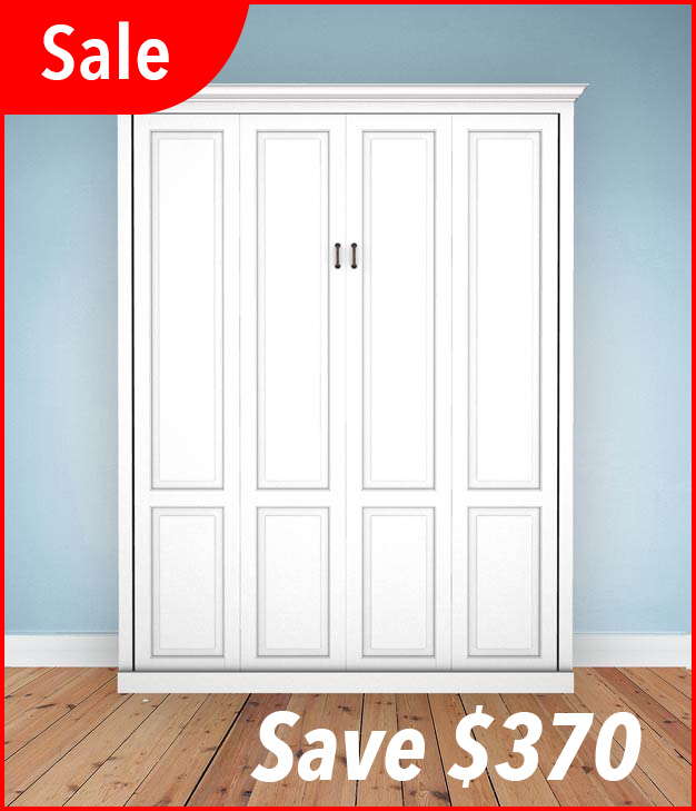 Sale Queen Traditional White Murphy Bed Top Selling Murphy Beds
