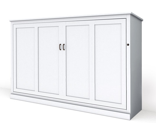 MB107M PM IS 538x425 lock miter white Twin Horizontal Mission Panel Murphy Bed - Painted Maple $2887.0