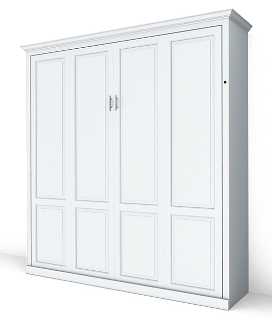 MB108T PM IS 626 lock2 King Vertical Traditional Raised Panel Murphy Bed - Painted Maple $3510.0