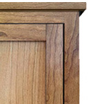 Mission Inset Panel Door Style Bookshelf 150 Mission Panel with Solid Top