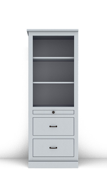 "Murphy Bed Side Cabinet Collection 124C 2H 24"" for Horizontal"