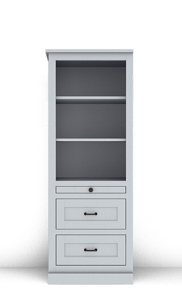 "Murphy Bed Side Cabinet Collection 124S 2Hv2 24"" for Horizontal"