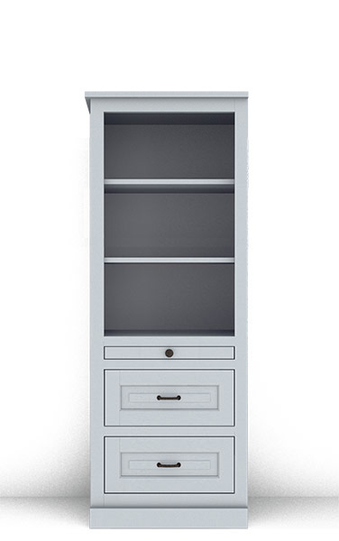 "Murphy Bed Side Cabinet Collection 124T 2Hv2 24"" for Horizontal"