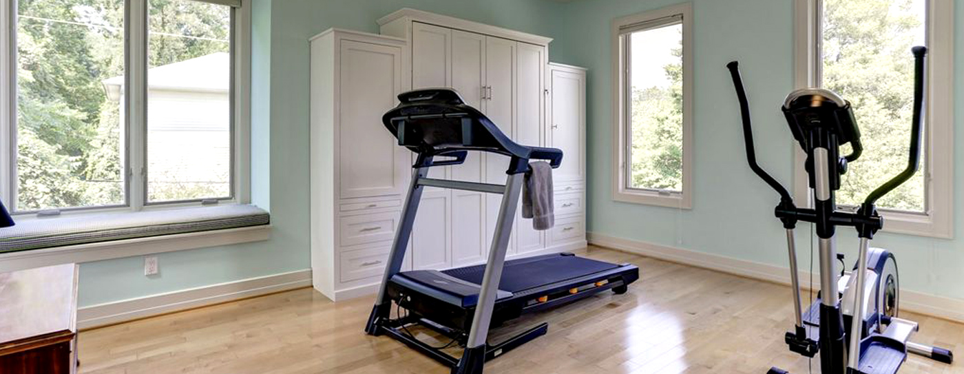 Queen Mission Murphy Bed Home Gym Dual Space