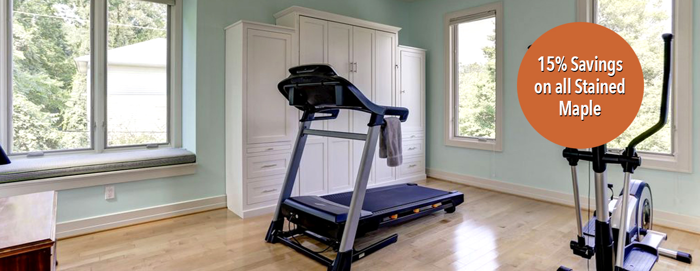 Queen Mission Murphy Bed Home Gym Dual Space traditional save on maple Home Gym Spare Bedroom