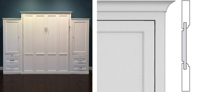 Shaker Panel Style Composite white Shaker Inset Panel