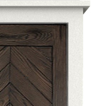 Solid Top Chevron Panel Door Style 150 Chevron Face Panel with Solid Top