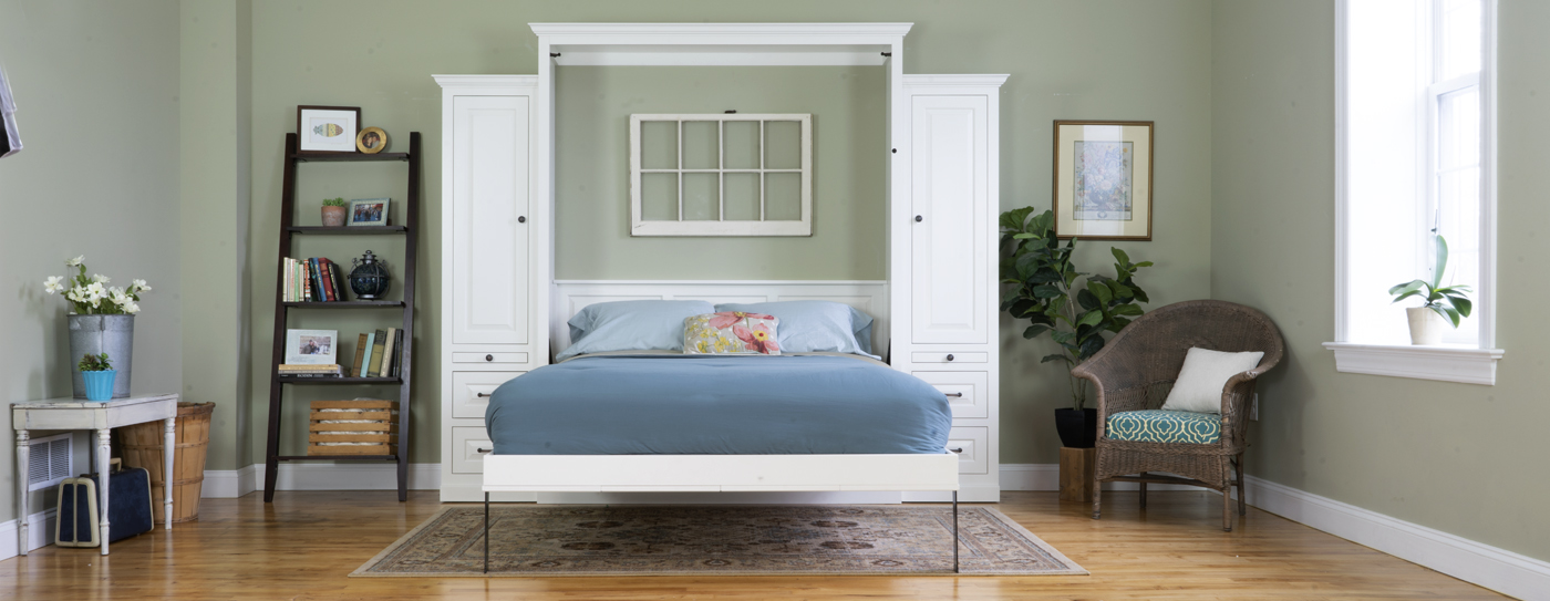 The Murphy Bed Amish Made Lancaster PA Open staged Customizable Sizing -  Built to Suit!