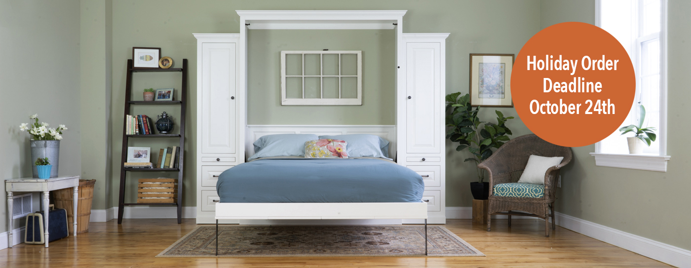 The Murphy Bed Amish Made Lancaster PA Open styled with burst Solid Wood Affordable Pricing