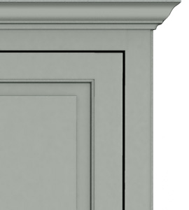 Traditional Raised Panel Door Style Crown 270 Horizontal Traditional Murphy Bed