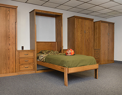 Twin Oak Murphy Wall Bed Fire Station NJ 400 Murphy Beds are Ideal Fire Stations