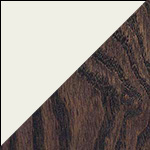 White Dove Antique Slate 150 Two-Tone Finish<br>Maple Painted White Dove<br>Stained antiqued & distressed Red Oak