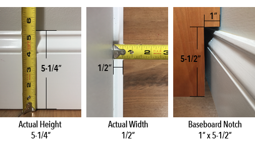baseboard notch with measurements3 What is a baseboard notch and how do I measure for it?