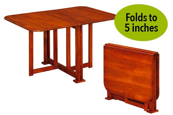 compact gateleg 600x400 green Compact Gateleg Table