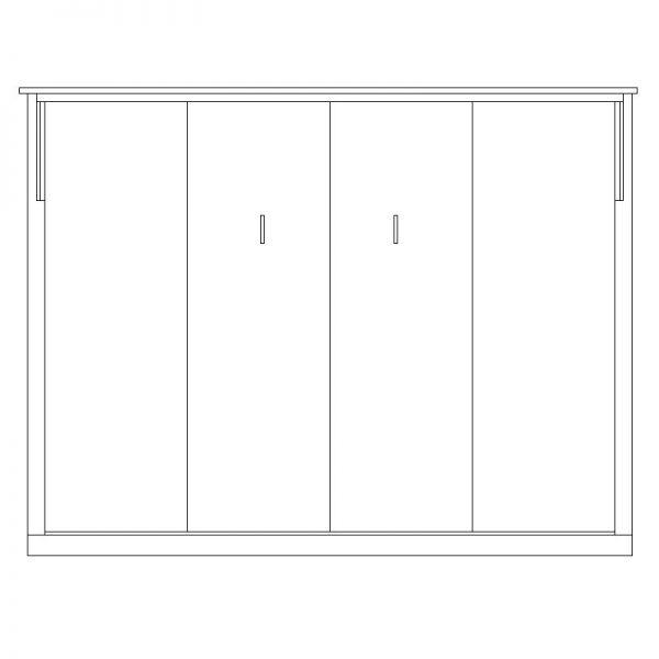 contemporary horizontal queen 600x600 Horizontal Contemporary Murphy Bed