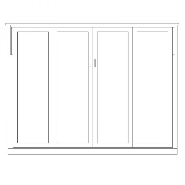 mission horizontal queen 600x600 Horizontal Mission Murphy Bed