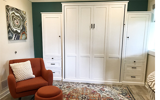 Surprising How To Turn Almost Any Space Into A Guest Room Murphy Bed Customarchery Wood Chair Design Ideas Customarcherynet
