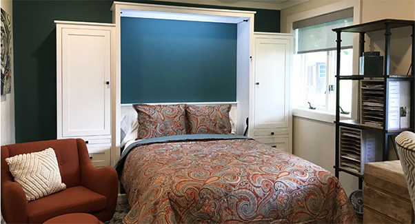 murphy bed open office guestroom 32