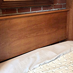 solid stained headboard 150 Standard Headboard